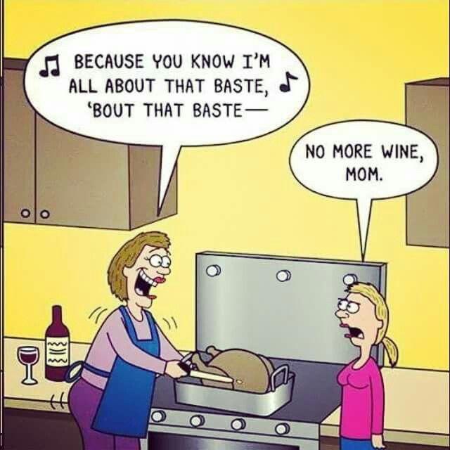 wine cooking cartoon