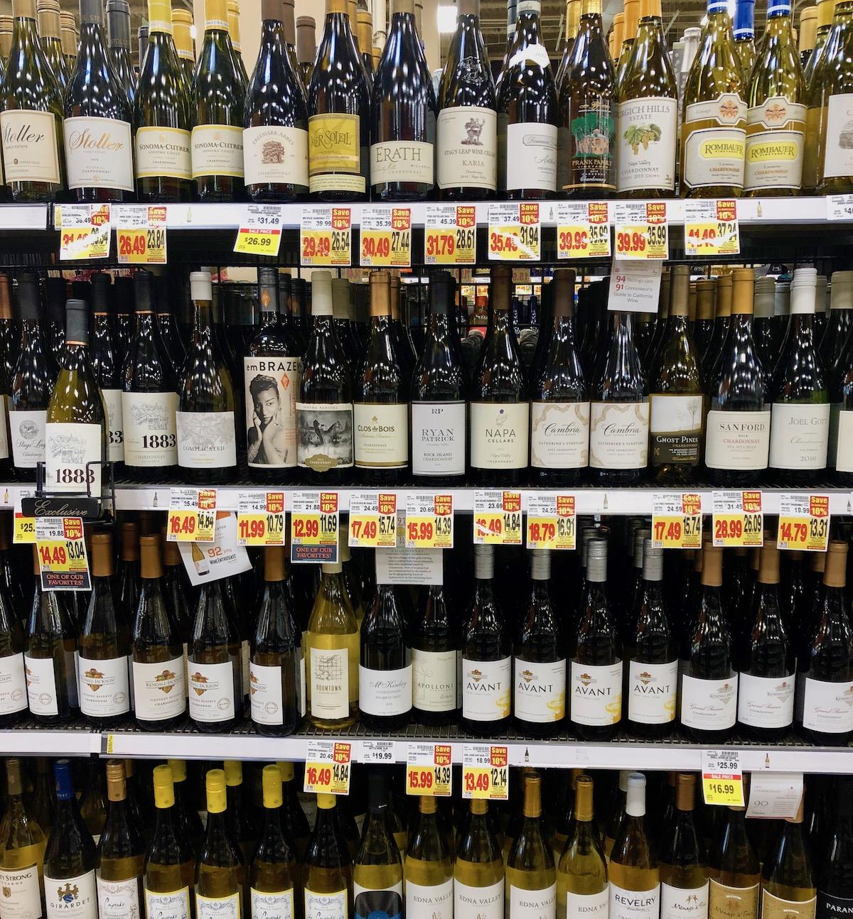 grocery store wine deals